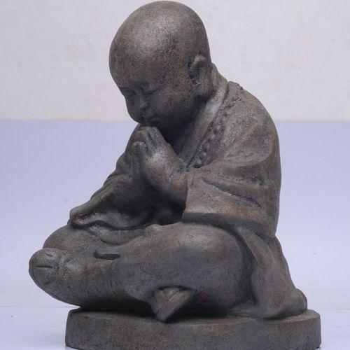 meditierender shaolin m nch h he 20 45 cm der koi shop. Black Bedroom Furniture Sets. Home Design Ideas
