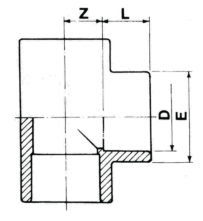 pvc t st ck 90 zum kleben 25mm g nstig kaufen auf der koi shop gmbh co kg. Black Bedroom Furniture Sets. Home Design Ideas