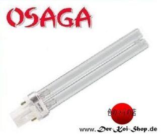 OSAGA UVC Ersatzlampe 13 Watt PL Sockel G23 UVC Lampe für alle UV-C Klärgeräte